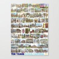 Ten Years in Davis Canvas Print