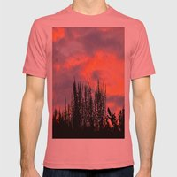 Sunset Silhouettes Mens Fitted Tee Pomegranate SMALL