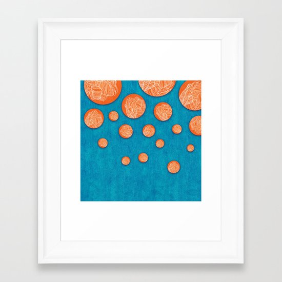 Orange tulips Framed Art Print