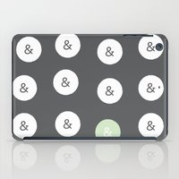 spot color ampersand iPad Case