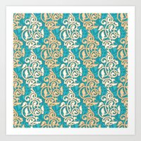 Arabesque seamless pattern Art Print
