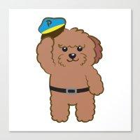Poodle Police Canvas Print