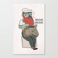 brushie brushie Canvas Print
