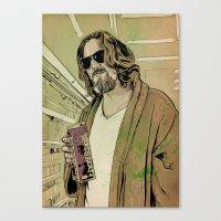Dude Lebowski Canvas Print