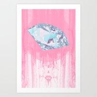 Diamant. Art Print