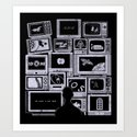 TV Addict Art Print