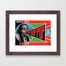 One Man Party Framed Art Print