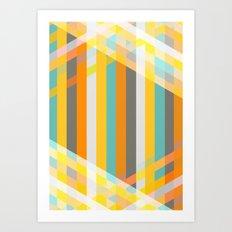 DecoStripe Art Print