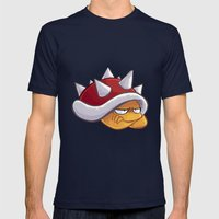 Spiny Mens Fitted Tee Navy SMALL
