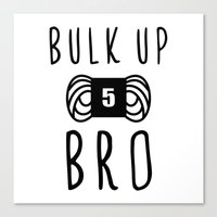 Bulk Up Bro Funny Yarn K… Canvas Print