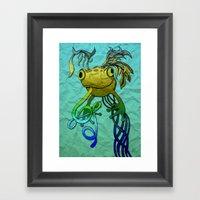 Psychoactive Frog Framed Art Print
