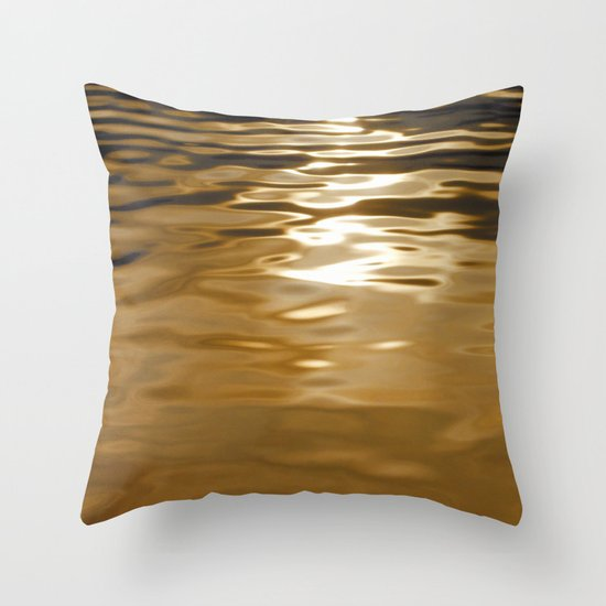 Water abstract H2O #37 Throw Pillow
