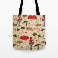Tote Bag featuring Mushrooms by Lynette Sherrard Illustration and Design