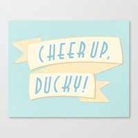 Cheer Up, Ducky Canvas Print