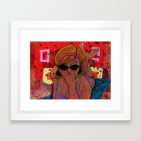 Pin-Up: Dotty Gal Framed Art Print