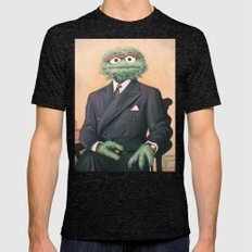 Sir Oscar Grouch Mens Fitted Tee Tri-Black SMALL
