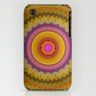 Grunge Flower In A Zigza… iPhone (3g, 3gs) Slim Case