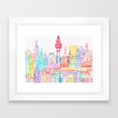 Berlin Towers Framed Art Print