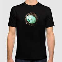 Something Blue Mens Fitted Tee Black SMALL