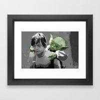 Luke Skywalker & Yoda Framed Art Print