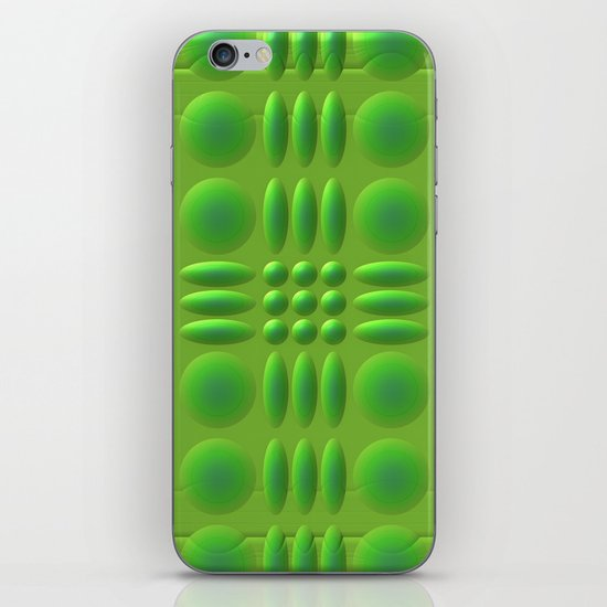 Puffy Green iPhone & iPod Skin