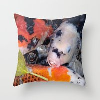 Koi Eyed Throw Pillow