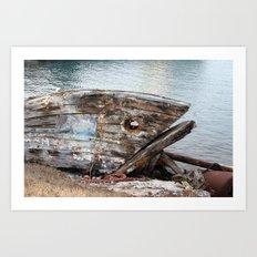 Fish Boat Art Print