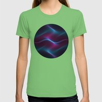 Wavy One Womens Fitted Tee Grass SMALL