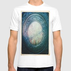 Round Art White SMALL Mens Fitted Tee