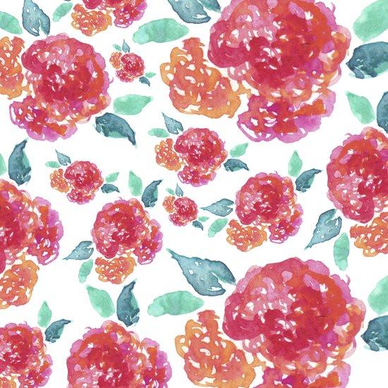 Pastel Spring Flowers Watercolor Art Print