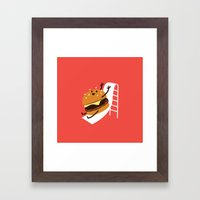 Slider Burger Framed Art Print