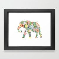 Elephlower Framed Art Print