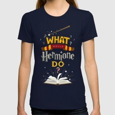 What Would Hermione Do? Womens Fitted Tee Navy SMALL