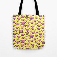 Pug Life  - Yellow And P… Tote Bag