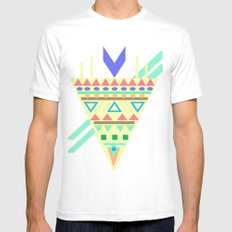 Triangle Affiniti Mens Fitted Tee White SMALL