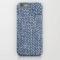 Hand Knit Navy iPhone 6 Slim Case