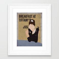 Breakfast At Tiffany's staring Audrey Hepburn Framed Art Print