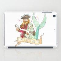 Valentine Mermaid and Pirate iPad Case