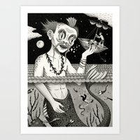 Hijacking On The High Se… Art Print