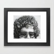 Peeping Frank Framed Art Print