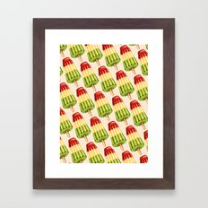 Popsicle Pattern- TropiP… Framed Art Print
