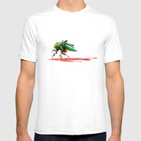 Mad Fly Mens Fitted Tee White SMALL