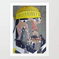 Weather-Beaten Fisherman Art Print
