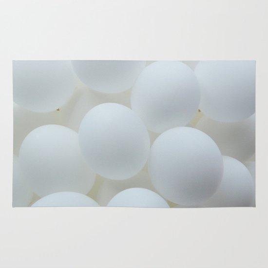 white balloons Area & Throw Rug