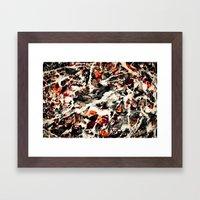 Pollock had a wife. I dunno, did he? Framed Art Print