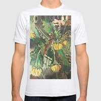 SUNFLOWERS  Mens Fitted Tee Ash Grey SMALL