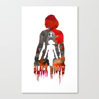 Black Widow Print Canvas Print