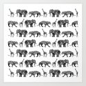 graphic zoo Art Print