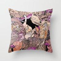 VULTURE Throw Pillow