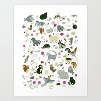 Animal Chart Art Print